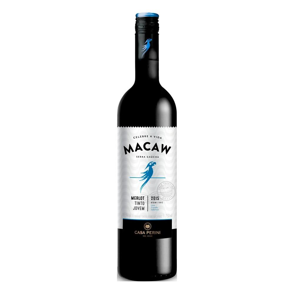 Vinho Macaw Tinto Merlot Demi-Sec 750ml