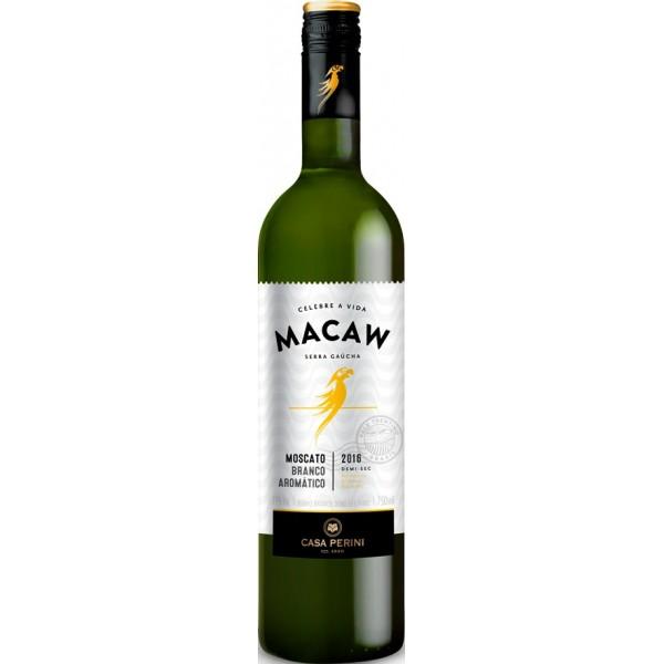 Vinho Macaw Branco Moscato Demi-Sec 750ml