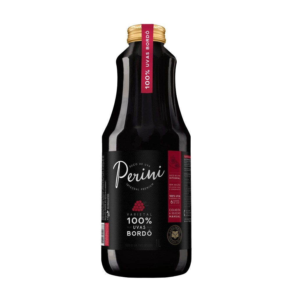 Suco de Uva Perini Tinto Integral 1L - Caixa com 6 unidades