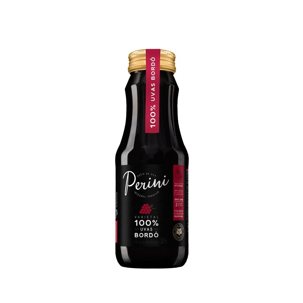 Suco de Uva Perini Tinto Integral 300ml - Caixa com 24 unidades