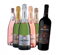 Pack Casa Perini: Compre 5 Espumantes e Ganhe 1 Vinho Solidário