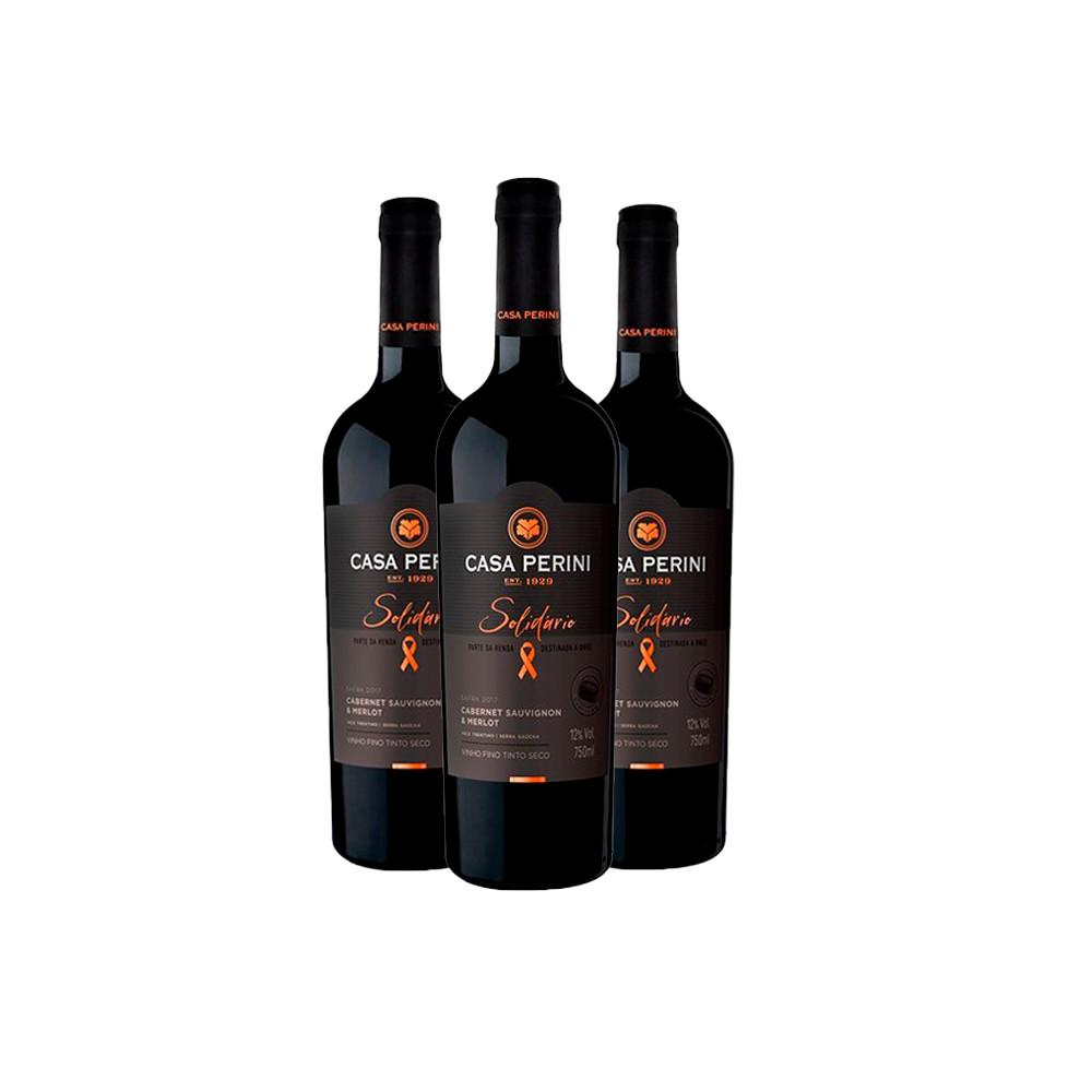 Trio Vinho Casa Perini Solidário 750ml