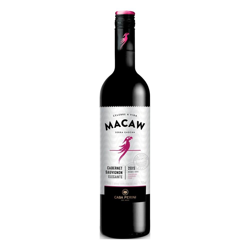 Vinho Macaw Tinto Cabernet Sauvignon Demi-Sec 750ml