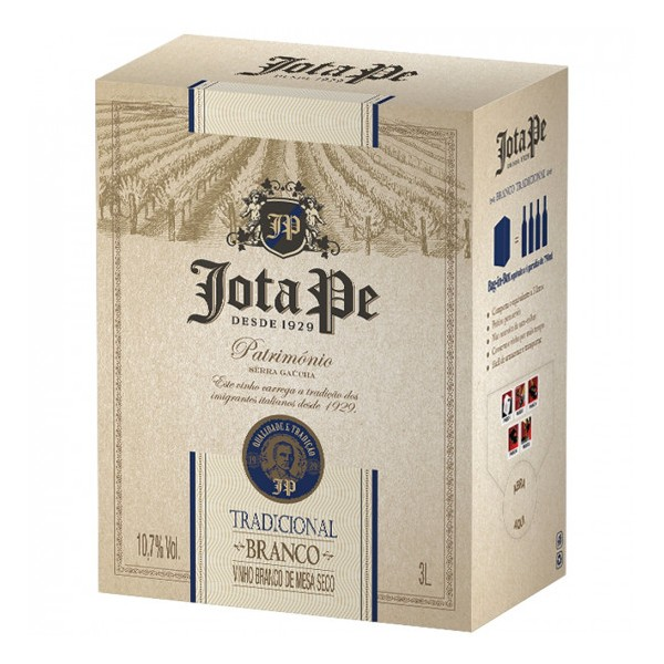 Jota Pe Branco Tradicional Bag in Box 3L